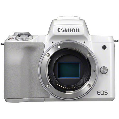 Canon EOS M50 Mirrorless Camera Body - White Image 1